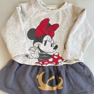 H&M Minnie Mouse sweater dress